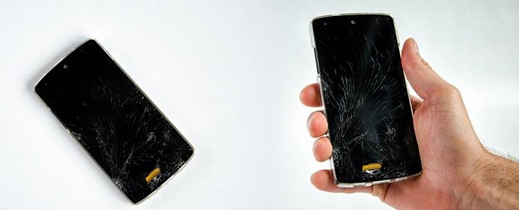 zbity ekran w telefonie