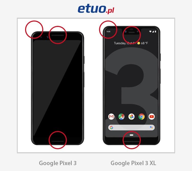 Google Pixel 3 i Google Pixel 3 XL - różnice