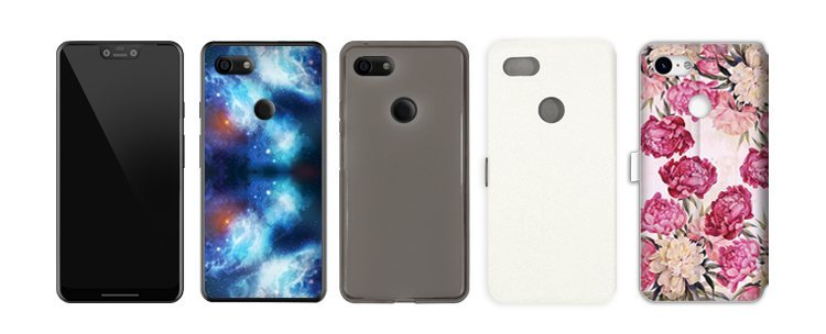 telefon z czystym Androidem Google Pixel 3 XL i etui