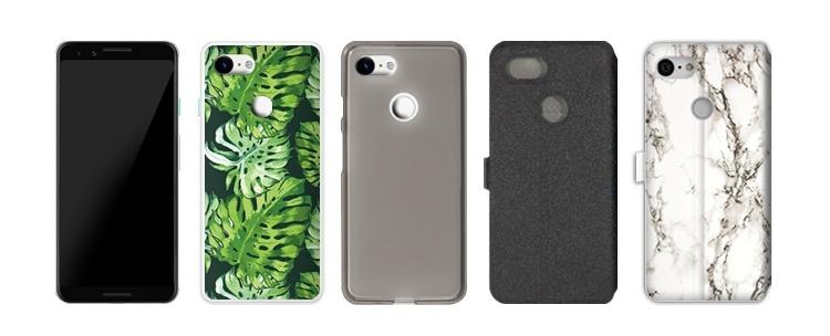 telefon z czystym Androidem Google Pixel 3 i etui