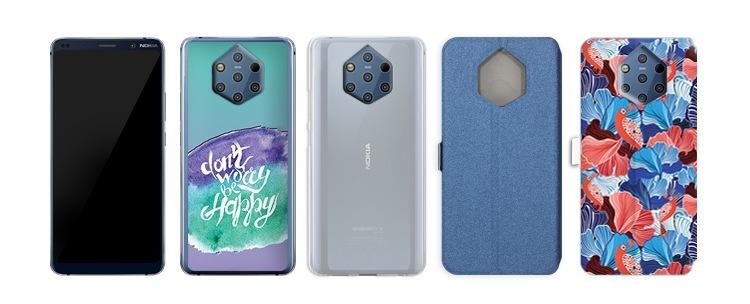 telefon z czystym Androidem Nokia 9 PureView i etui