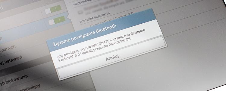 parowanie tableta z klawiaturą