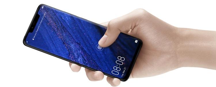 Huawei mate 20 pro z czytnikiem linii papilarnych w ekranie