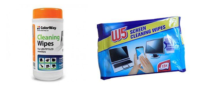 chusteczki do czyszczenia ekranów