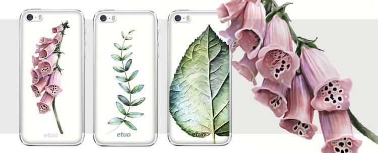przyrodnicze etui na telefon botanic