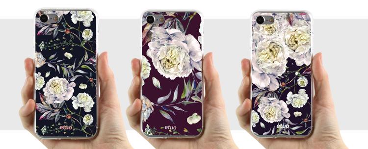 etui na telefon z kwiatami