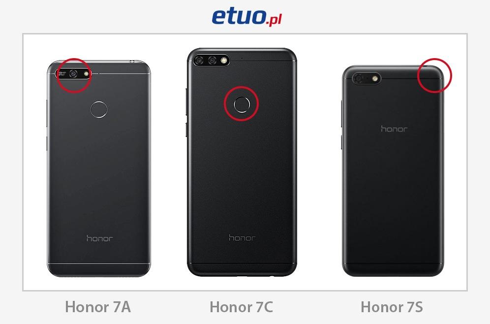 Różnice pomiędzy modelami Honor 7A, Honor 7C i Honor 7S